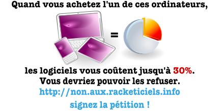 Informatique : choisissez avant de payer, signez la pétition !
